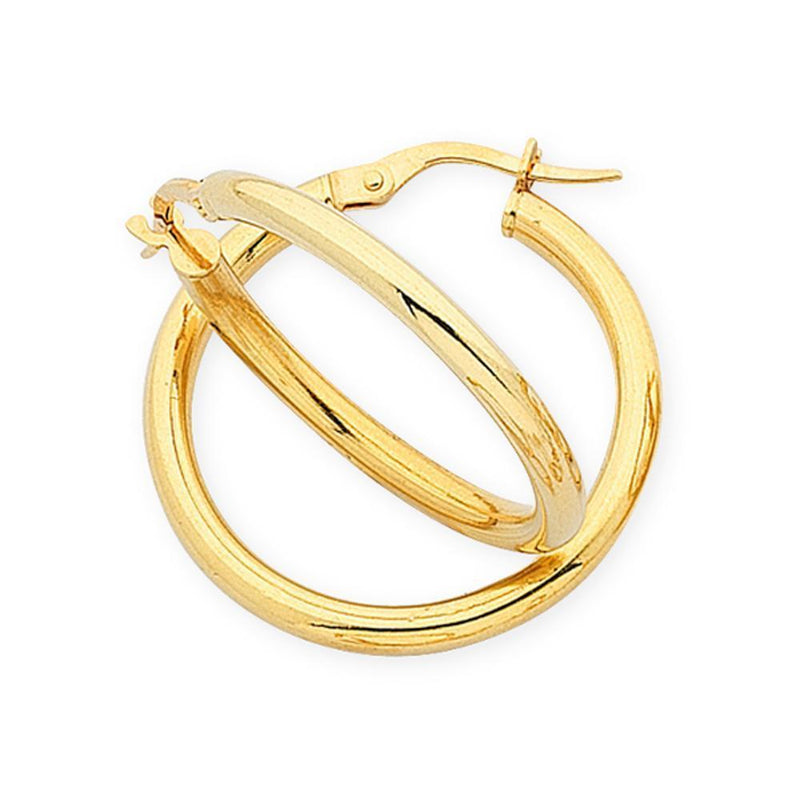 9Ct Gold Silver Filled Hoop Earrings