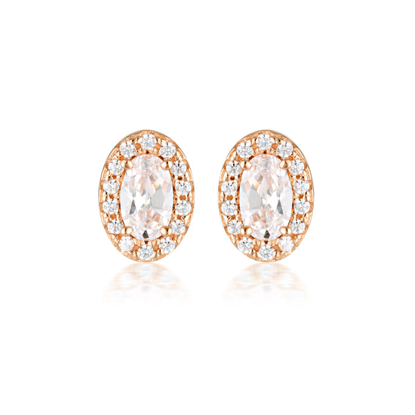 Georgini Aurora Glow Earrings Rose Gold