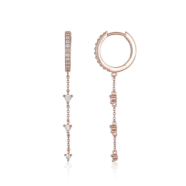 Georgini Heirloom Loved Earrings Rose Gold
