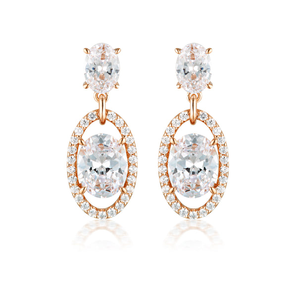 Georgini Aurora Heaven Earrings Rose Gold