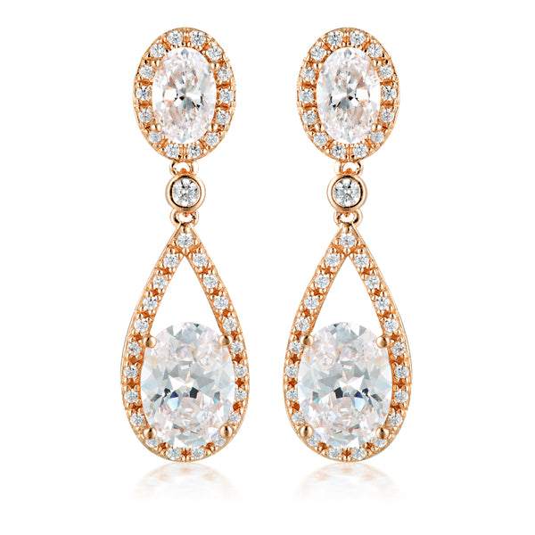Georgini Aurora Radience Earrings Rose Gold
