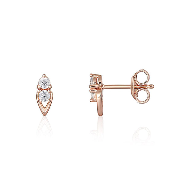 Georgini Heirloom Keepsake Earrings Rose Gold