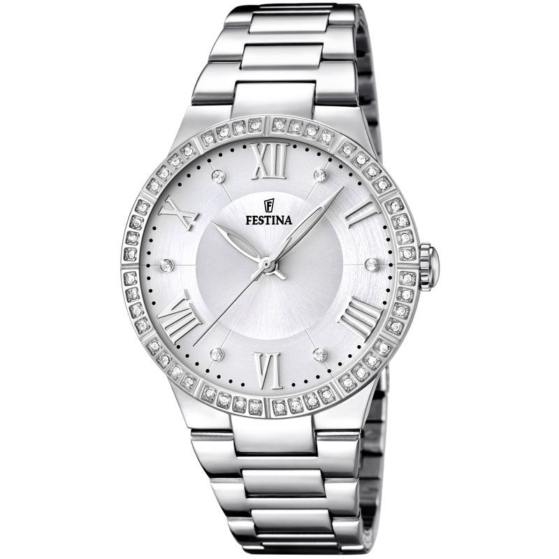 Festina Mademoiselle Embellished Case Watch