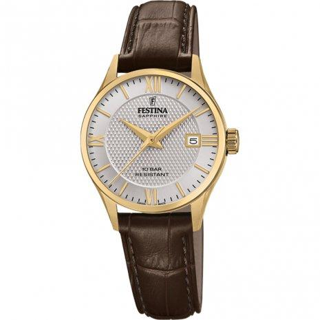 Festina Swiss Gold Case Brown Watch