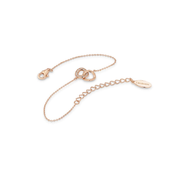Georgini-Lynx Rose Gold Plated Sterling Silver Cubic Zirconia Bracelet