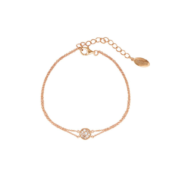 Georgini-Mini Mosaic Rose Gold Plated Sterling Silver Cubic Zirconia Bracelet