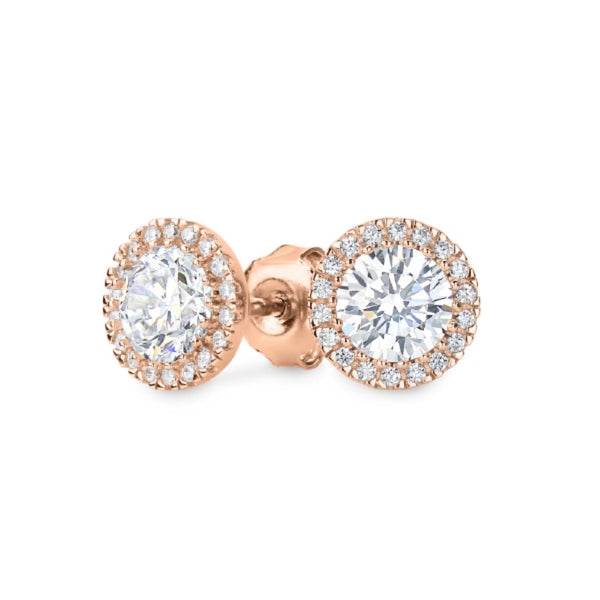 Georgini-Yoyo Rose Gold Plated Sterling Silver Cubic Zirconia Stud Earrings