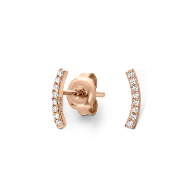 Georgini-Stella Rose Gold Plated Sterling Silver Cubic Zirconia Stud Earrings