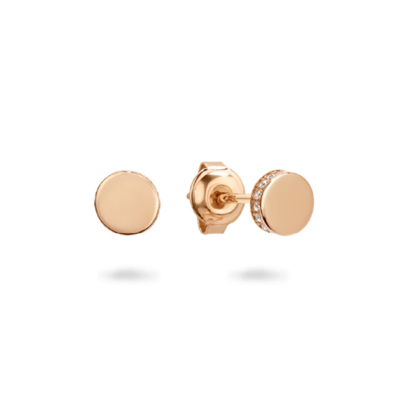 Georgini-Micro Rose Gold Plated Sterling Silver Cubic Zirconia Stud Earrings