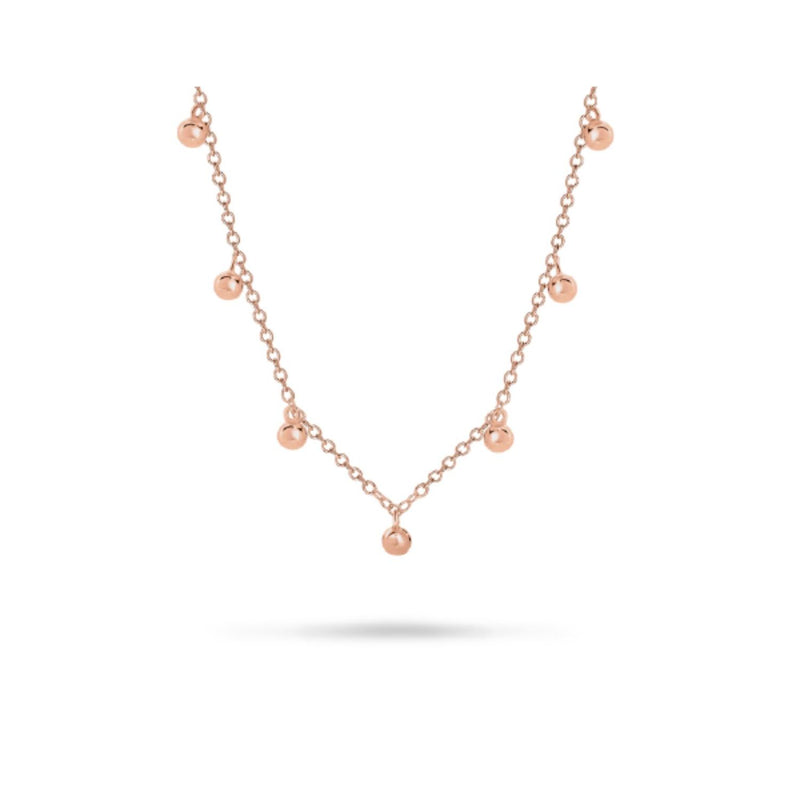 Georgini-Bond Rose Gold Cubic Zirconia Necklet