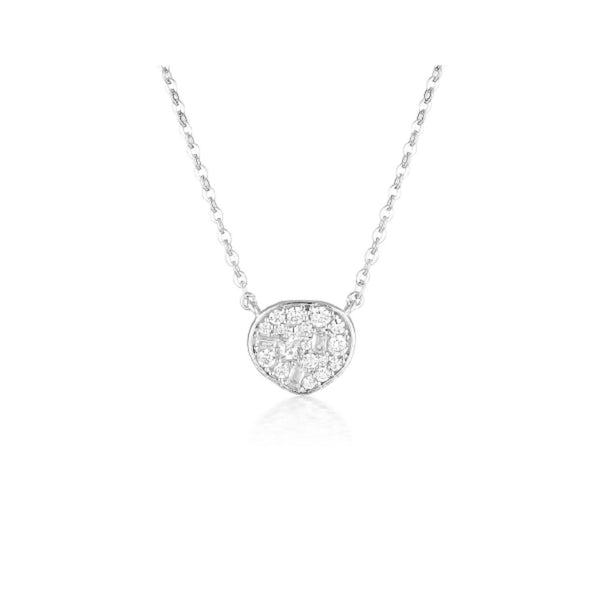 Georgini - Fili Small Mosaic Sterling Silver Cubic Zirconia Necklet