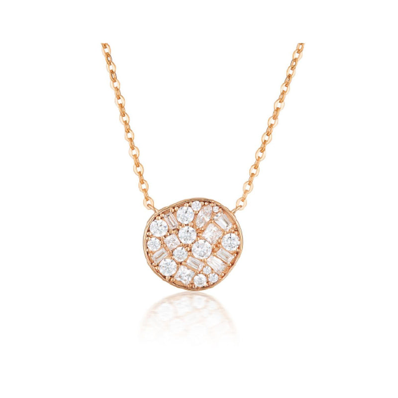 Georgini-Fili Large Mosaic Rose Gold Cubic Zirconia Necklet