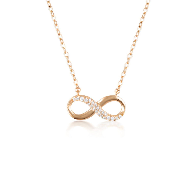 Georgini-Forever Infinity Rose Gold Cubic Zirconia Necklet