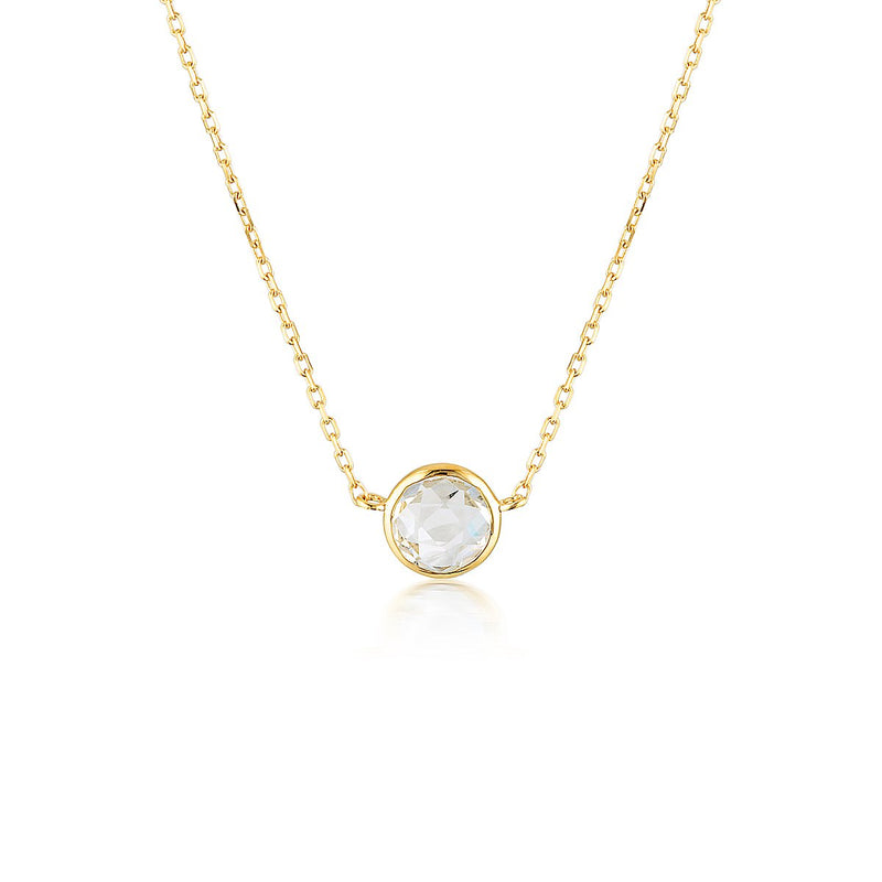 Georgini - Lucent Yellow Gold White Topaz Necklet