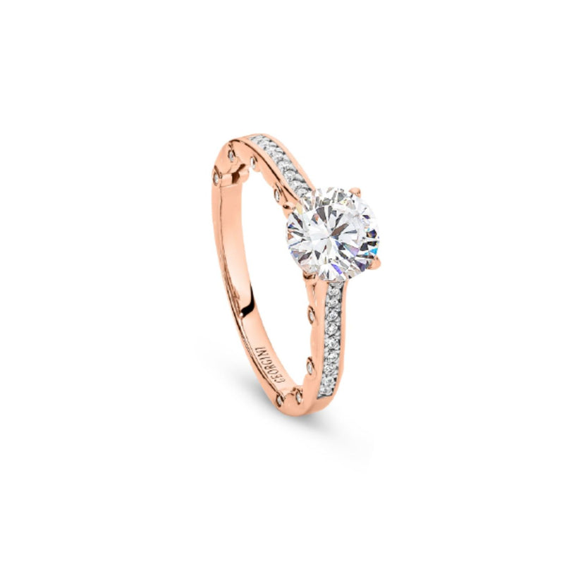 Georgini-Tiamo Rose Gold Cubic Zirconia Ring