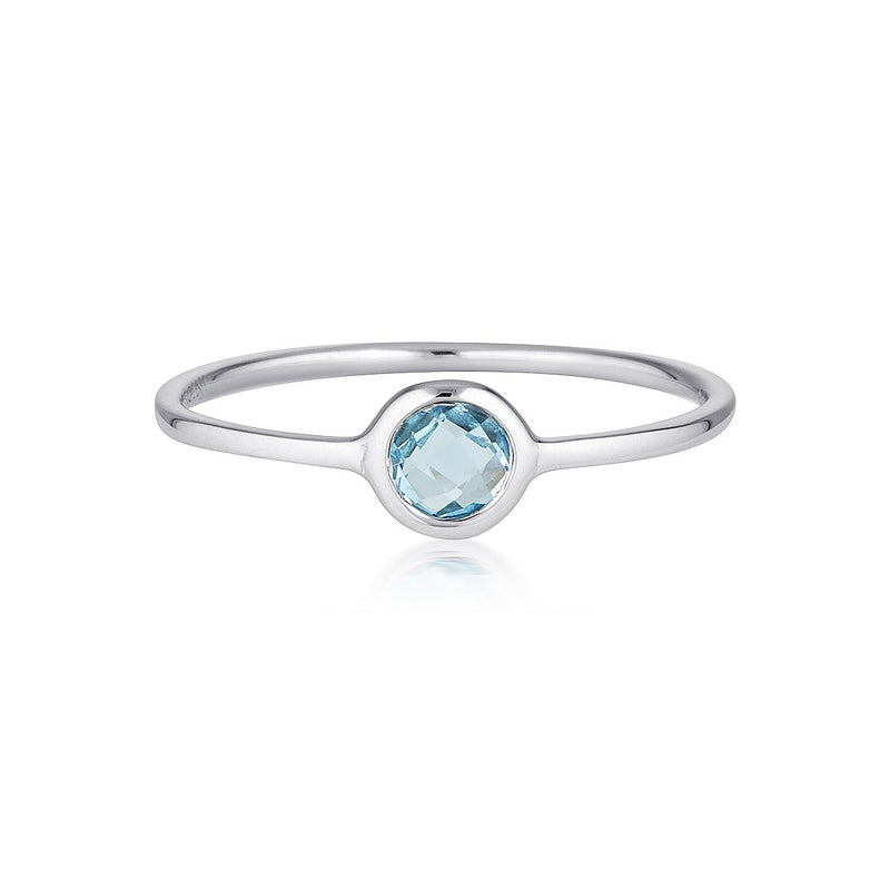 Georgini - Eos Sterling Silver Blue Topaz Ring