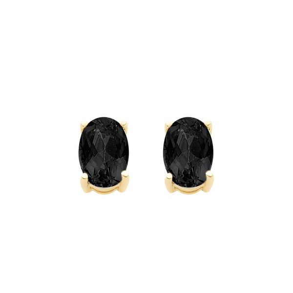 9ct Gold Natural Sapphire Stud Earrings
