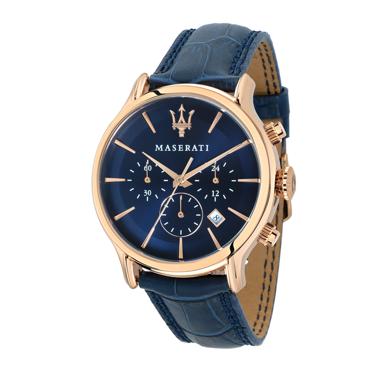 Maserati EPOCA 42mm Deep Blue Watch