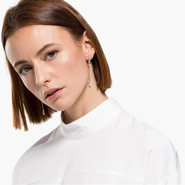 Swarovski White Attract Pierced Earrings