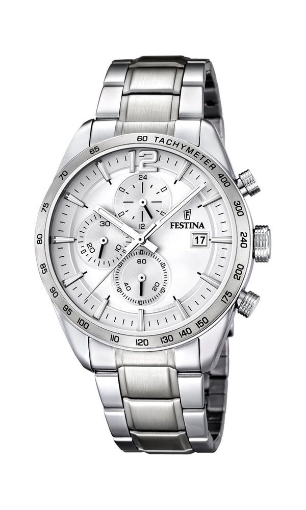 Festina Timeless Chrono Silver Watch