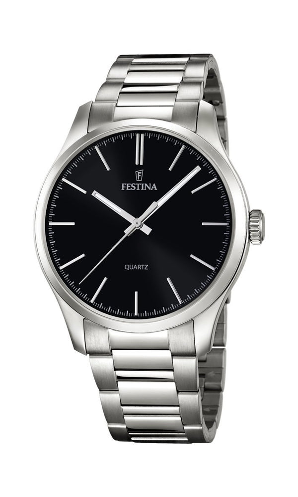 Festina Classic Black Dial Watch