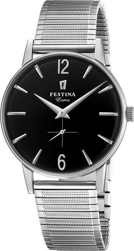 Festina Extra Black Dial Watch