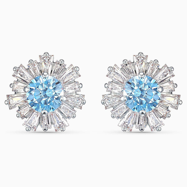 Swarovski Blue Sunshine Pierced Earrings