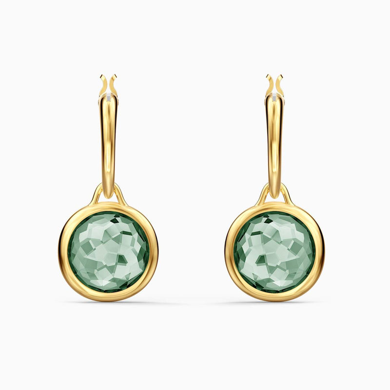 Swarovski Green Tahlia Mini Hoop Pierced Earrings