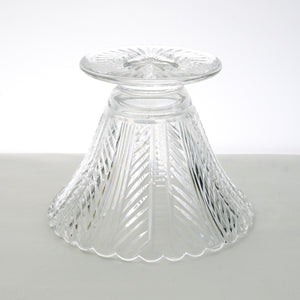 Lead crystal brightly cut trifle bowl