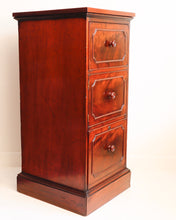 Load image into Gallery viewer, Mahogany pedestal cellarette
