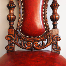 Load image into Gallery viewer, Pair of heavily carved oak chairs