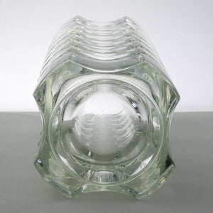 Geometric crystal glass vase by Luminarc
