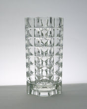 Load image into Gallery viewer, Geometric crystal glass vase by Luminarc