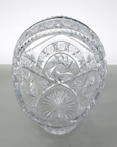 Vintage lead crystal cut glass fruit baskets