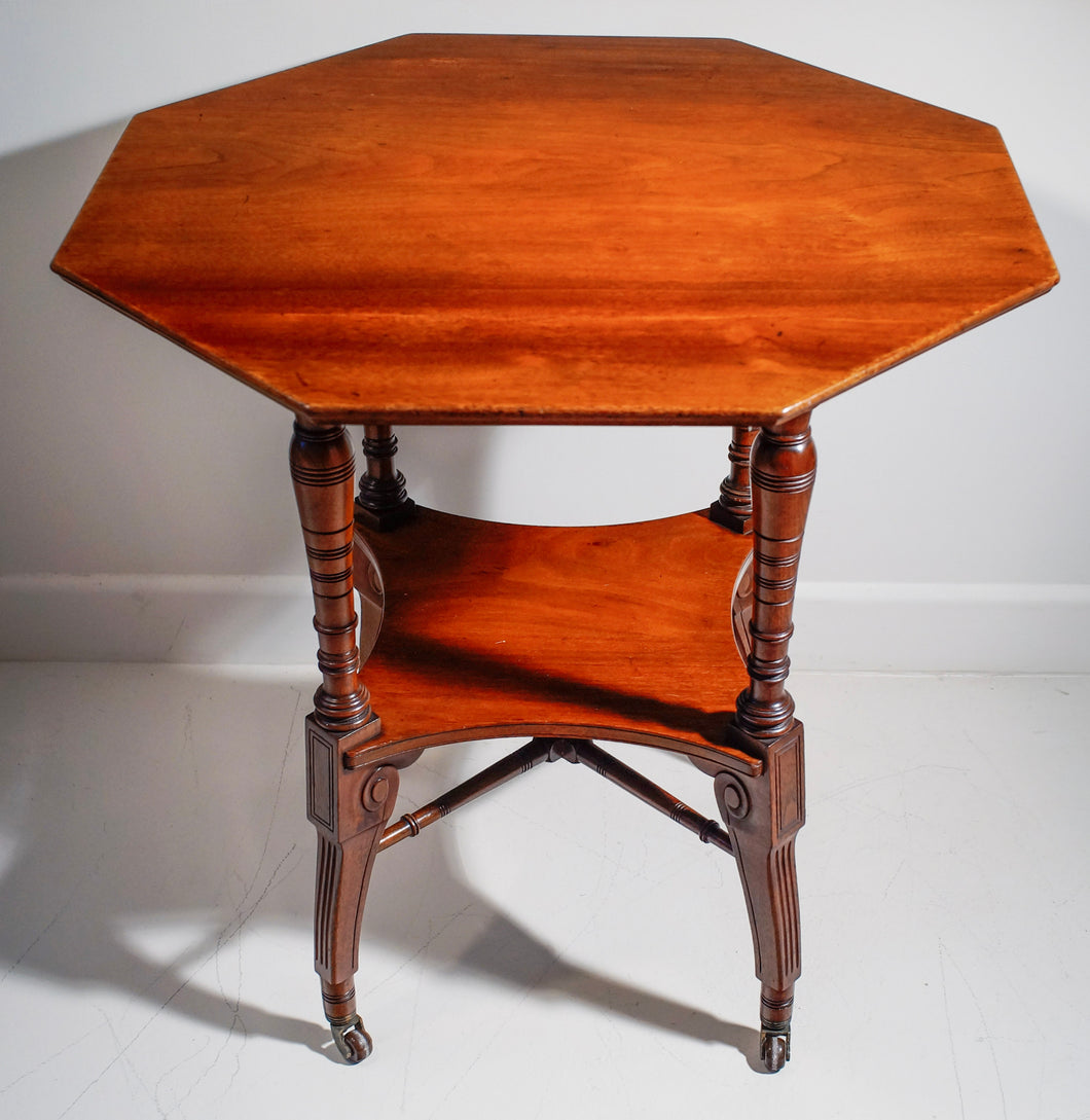 Octagonal occasional table
