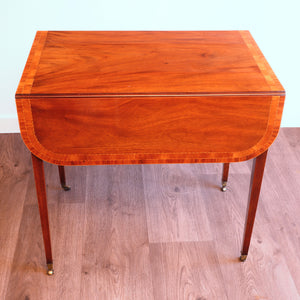 Good quality mahogany and inlaid Pembroke table