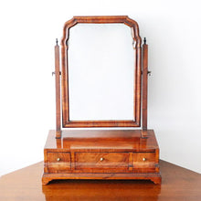 Load image into Gallery viewer, Walnut three drawer box mirror
