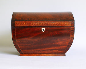 Beautiful and unusual mahogany writing box