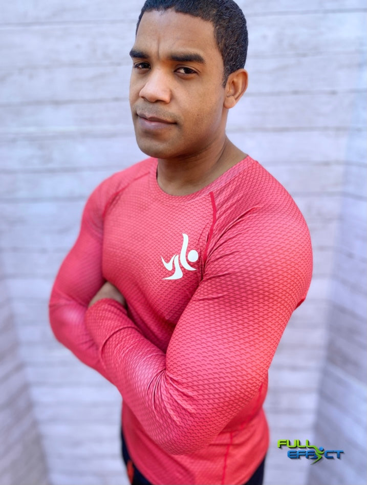 Full Effect high Performance Long Sleeve Compression Unisex Shirt (Red).