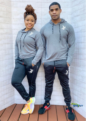 Full Effect Qualifier Compression Unisex Hoodie (Grey).