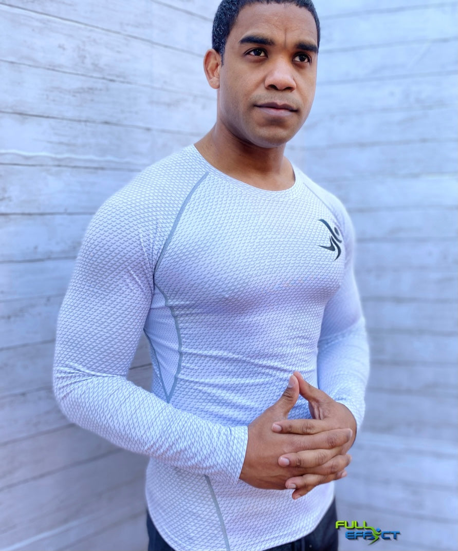 Full Effect High Performance Compression Unisex Shirt (White).