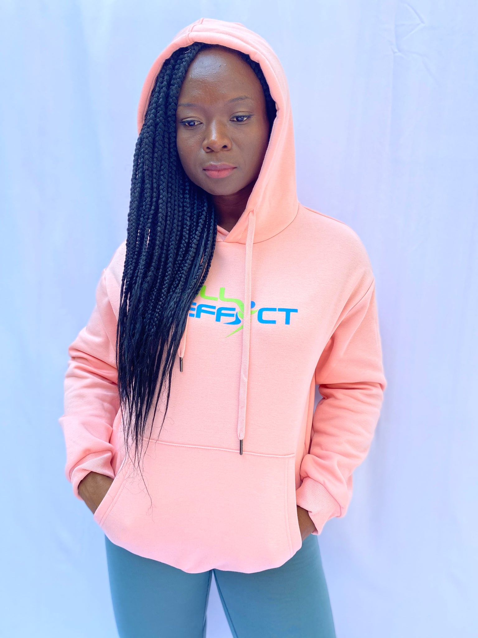 Full Effect Active Unisex Pink Athletic Hoodie | Unisex Clothing