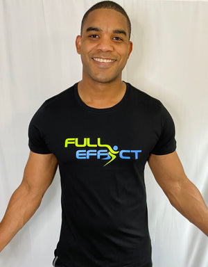 Full Effect Active Men's Black Athletic Tee | Men's Athletic Wear