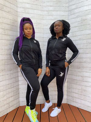 Full Effect Active Women Stripe Patchwork Casual Tracksuit | Gym Wear