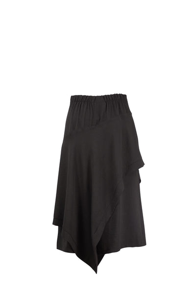 MARLEY Black Asymmetrical Skirt
