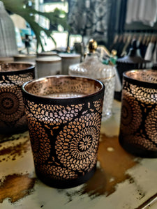 Organic Soy Candles - Filigree Glass