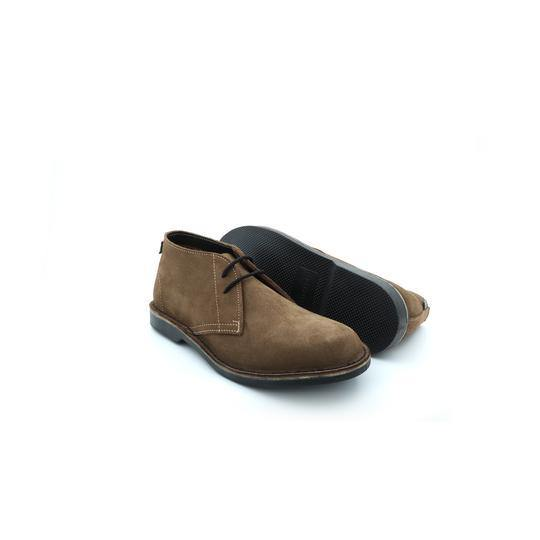Lace Up Desert Boot - Black