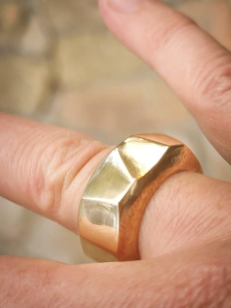 Organic Bronze Ring for His or Her