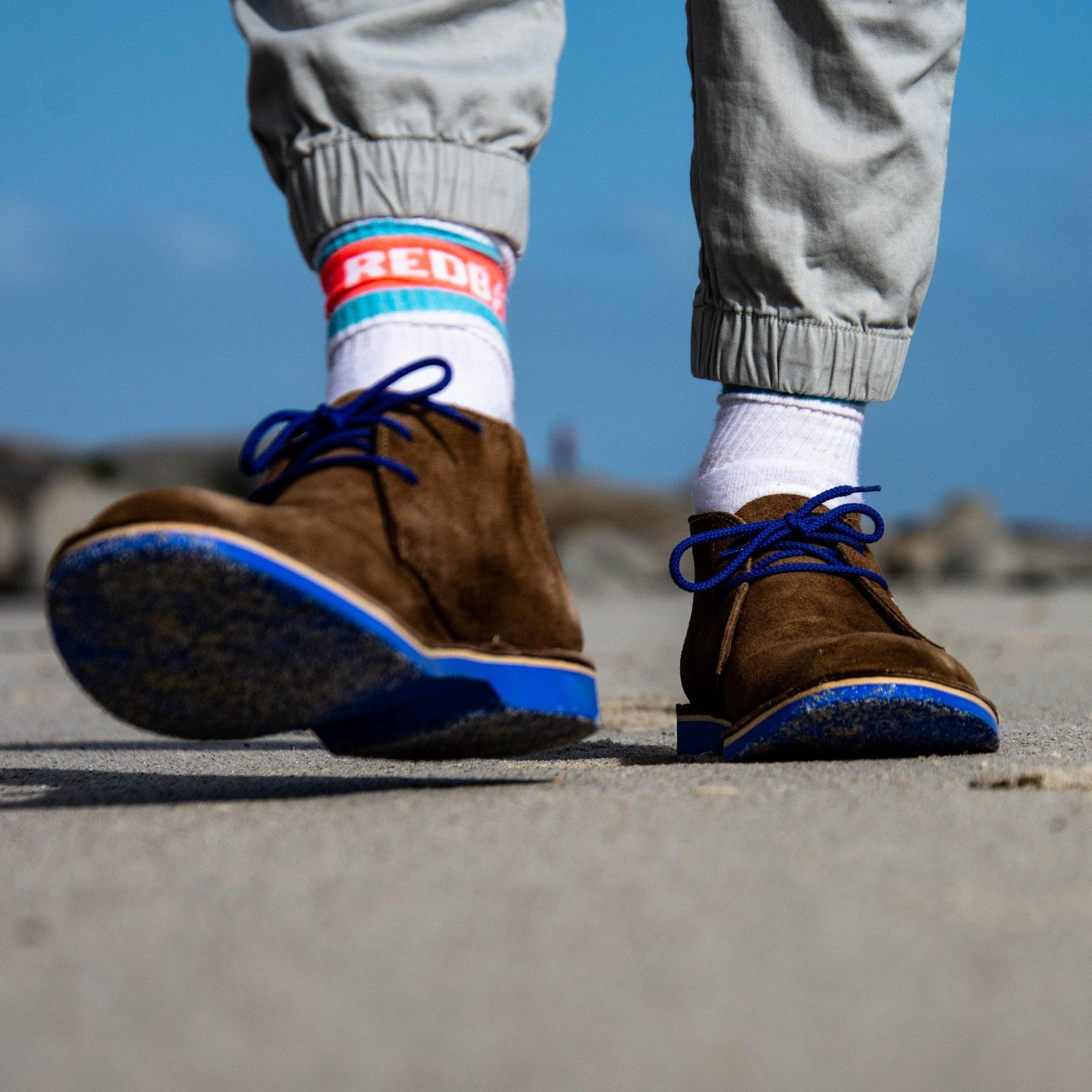 Lace Up Desert Boot - Blue