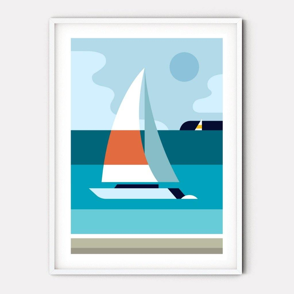 Setting Sail Graphic Art Print
